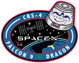 SpaceX's CRS-4 mission logo, September 2014.