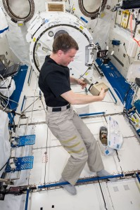 The acutation tool is used by astronaut Reid Weisman to push the fixative onto our microgravity-grown seedlings.