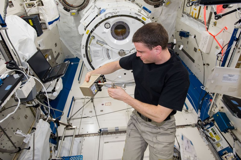 After Reid Weisman fixes our BRIC-19 seedlings, the canister will be placed in the freezer to await return to Earth in SpaceX's Dragon capsule.