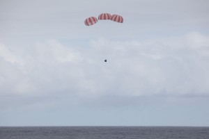 Splashdown of the CRS-4 Dragon capsule holding our BRIC-19 experiment. Photo by SpaceX.